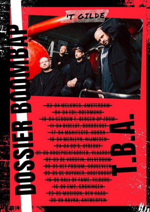 Dossier Boombap tour verplaatst